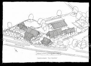 Perspectief van de boerderij, van Bed & Breakfast Erve Howerboer