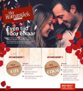 Geniet van het Valentijnsarrangement bij Bed & Breakfast Erve Howerboer